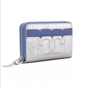 New Tory Burch leather wristlet